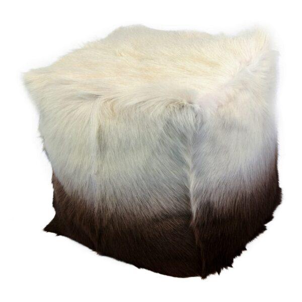 Goat Fur Pouf