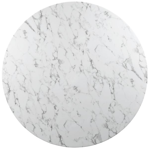 Lippa Round Marble Dining Table